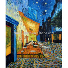 Terraza del café en la noche Arte famoso de la pintura al óleo de Van Gogh Repro de la tabla 20X24 al aire libre