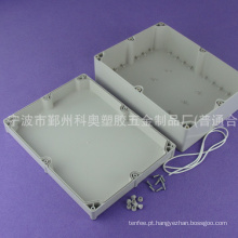 Invólucro personalizado ip65 invólucro impermeável de plástico caixa de junção elétrica caixa fundida PWE208 com tamanho 300 * 230 * 110 mm