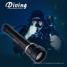 CREE XM-L2 U2 Scuba underwater 2 * photographie de la batterie 18650 Photographie sous-marine light box