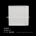 square shape white porcelain dinner plate for restaurant/hotel