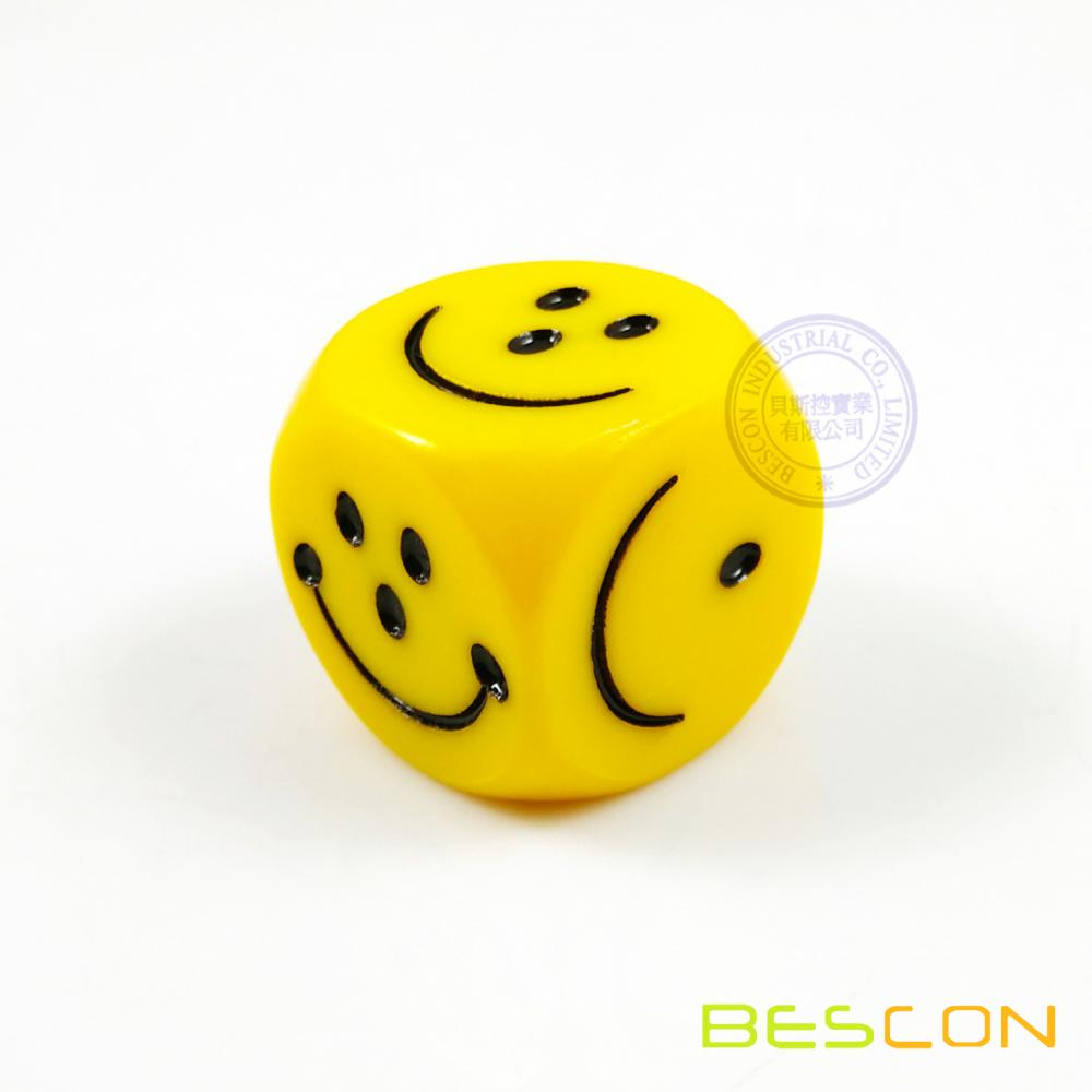 Colorful Plastic Six Sided Custom Made Engraved dice 20MM