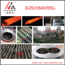 bimetal screw barrel with high wear resistant for extrusion machine