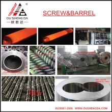cilindro de parafuso bimetálico com alta resistência ao desgaste para máquina de extrusão