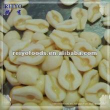 Elección de la calidad de conservas de pera en almíbar