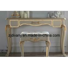 Estilo francês em madeira mesa estudo quarto escrivaninha (2403)