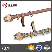 Heavy duty wall mounted stainless steel curtain poles