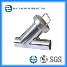 Filtro sanitário tipo Y roscado DIN em aço inoxidável