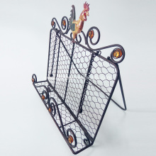 Metal Cookbook Holder Stand Recipe Bookshelf Rack