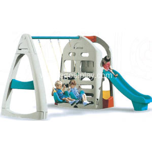 Wholesale Dealers of for Outdoor Playground Swing Set Small Size Outdoor Swing Slide Combination export to Guyana Factory