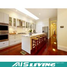 Mobília branca dos armários da cozinha do abanador da fábrica de Foshan (AIS-K379)