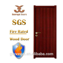 Alta qualidade BS test apartment Walnut Fire rated Door