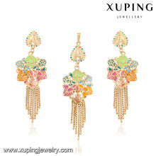 64030-Xuping Gold Jewelry Sets ,Fashion Brass Jewelry Set with 18K Gold Plated