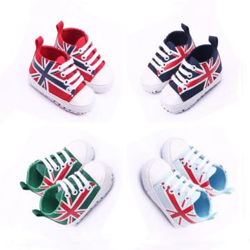 Vente en gros Printemps New Flag Bbay Toddler Canvas Shoes
