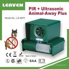 Надежное качество и эффективное ультразвуковой отпугиватель животных от сада
