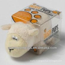 Nettoyant d'écran en forme d'animal drôle Nettoyant pour écran d'agneau en peluche
