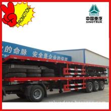 Sinotruk Hot Sale 40ft 3 Axles Flatbed Semi Trailer Trucks