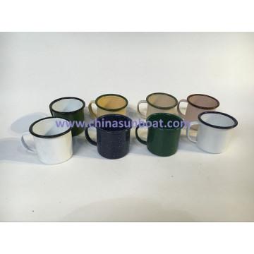 Sunboat Enamel Cup Mug Cup Enamel Coffee Cup