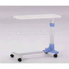 2016 F-33 ABS hospital movable over bed table, hospital bed dining table, hospital over bed table