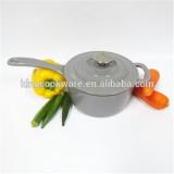 Gray cast iron milk pot/casserole set/sauce pan