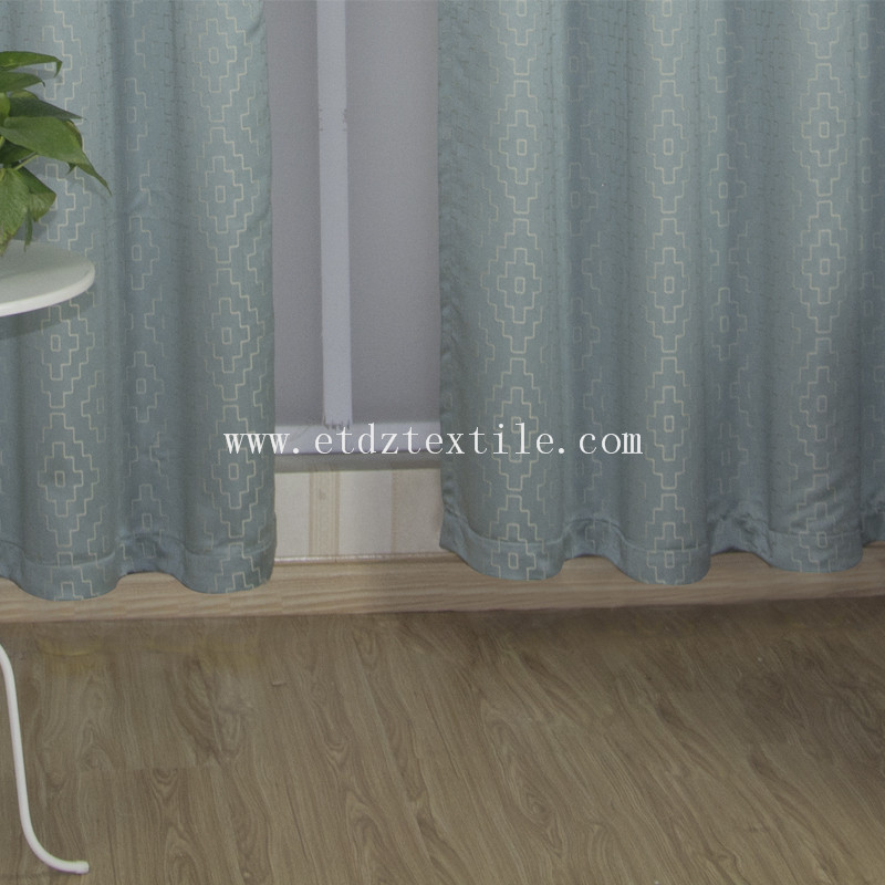 Hot Jacquard Design Window Curtain GF026 Water Blue