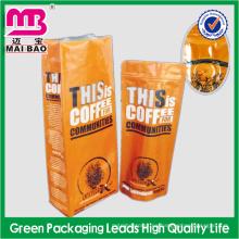 La máquina automática hizo la bolsa de café impresa modificada para requisitos particulares del papel de aluminio con la válvula unidireccional