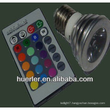 3W e27 remote control 16 color rgb led light 100-240V RGB003