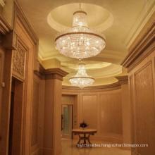 Contemporary decor meeting room golden copper led chandelier pendant light