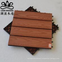 Wood Plastic Composite Decking DIY Tile Interlock Terrace WPC Decking Tile
