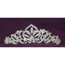 Heißer Verkaufs-neuer Entwurfs-Rhinestone-Hochzeits-Tiara-Kristallbraut-Krone