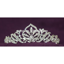 Горячая продажа Новый дизайн Rhinestone Свадебный Tiara Crystal Люкс Корона