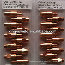Binzel co2 ponta de contato de soldagem M8 * 30MM