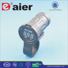 Daier Motorrad Stromversorgung Meter Tester Digital Voltmeter LED 12V Steckdose