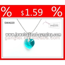 Crystal jewelry necklaces jewelry heart shape
