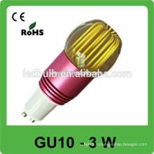Высокая яркость 3W GU10 Светодиодная лампа / 3W Светодиодный GU10 Spot Light / 3W GU10 Светодиодная лампа