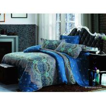 Роскошные комфортные одеяла ручной работы для китайского постельного белья из хлопка с реактивной печатной королевой пододеяльника