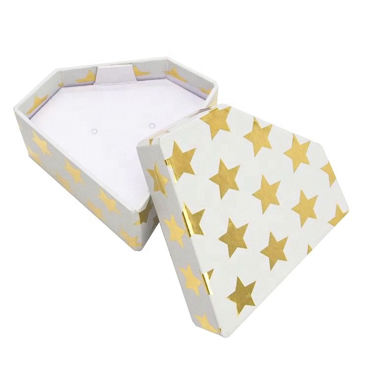Diamond Shape Paper Jewelry Packaging Earring Box