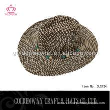 Chapeaux de paille en papier marron chapeaux de paille de perou