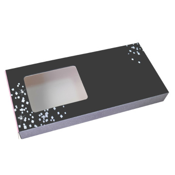 Atacado Private Label Black Eyelash Box Matte