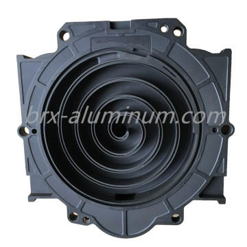 Hard anodized aluminum alloy part for turbo
