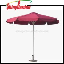 Parasol de playa promocional de la playa del jardín de los 3m, tela a prueba de viento para el paraguas, paraguas de playa con la franja