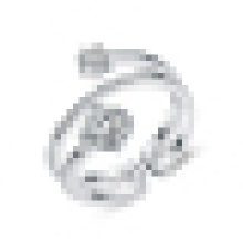 Kreativer Mode 925 Sterling Silber Ring Intarsien CZ Offener Ring