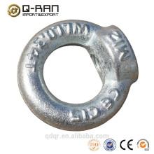 Matériel acier galvanisé forgé écrou oeil DIN582