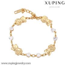 73922 Xuping Jewelry 18K chapado en oro Bear Charm Bracelet