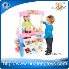 New Multifunctional Supermarket Play Set,kids pretend priate market stall play set with scanner H155718