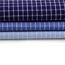 Tela de camisa de cuadros de lino de algodón al por mayor