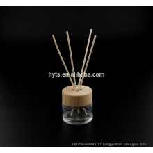 130ml round shape reed diffuser glass bottle with wood cap