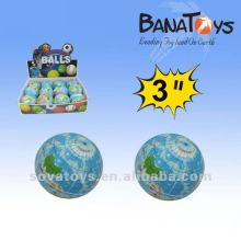 3 inches funny globe shape pu stress toy ball