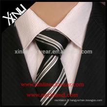 Cravate en polyester tissé à rayures parfaites pour homme