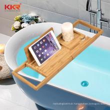 Bathroom Accessories Bamboo Luxury Bathtub Caddy Tray