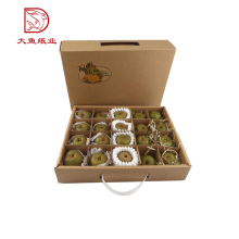 Hecho en China nueva caja desechable de cartón de empaquetado de fruta de exhibición de diseño
